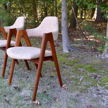 Mid Century teak Compass Chairs by Kai Kristiansen - danish modern by RossDesignCompany