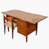 Expanding Mid Century Modern Drop-Leaf Desk
