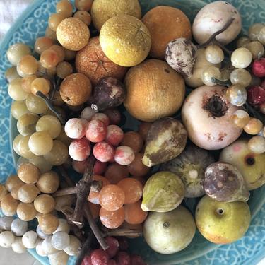 Vintage Handpainted Alabaster Fruit