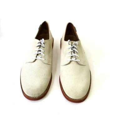 G.H. Bass & Co. Men's Oxford Shoes Ivory White Brown Lace Up Leather 12M Oxfords by MakingMidCenturyMod