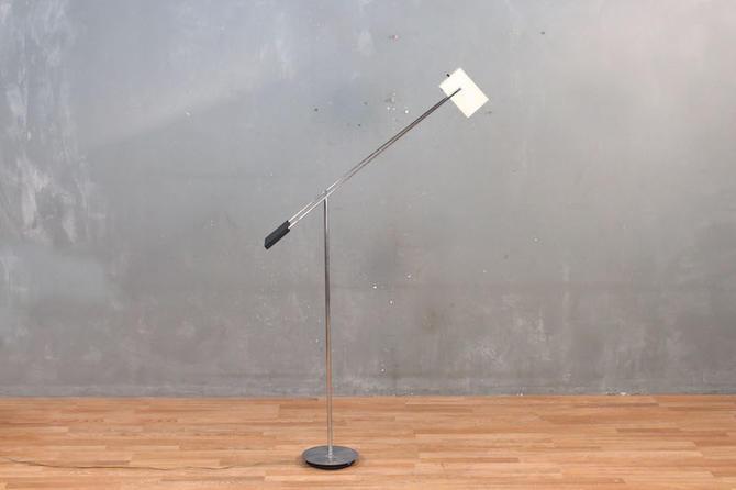 Mod Chrome Balance Arm Floor Lamp