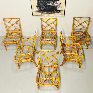 MCM Ficks and Reed Set of Six Dining Chairs by VivaLaVintagedotTX