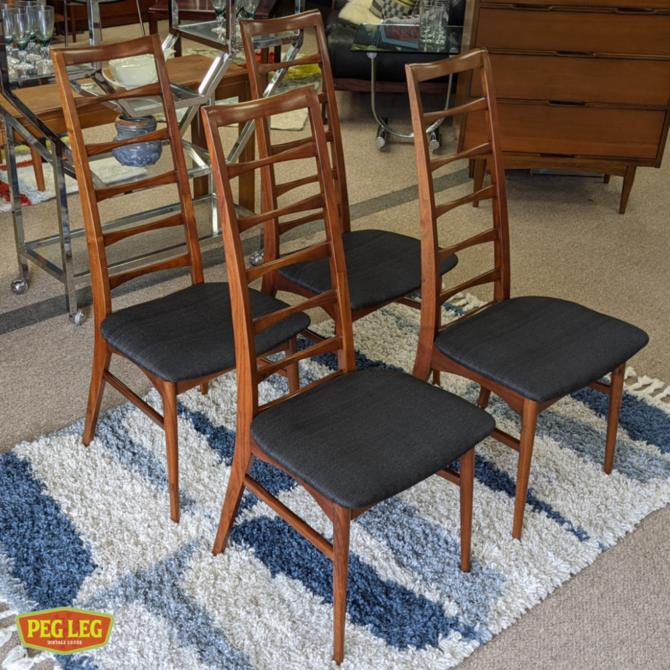 "Set of 4 Danish Modern ""Liz"" dining chairs by Niels Koefoed"