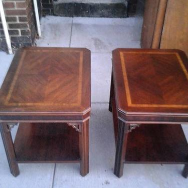 End tables by Lane