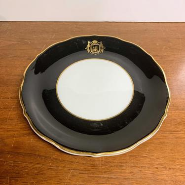 Vintage Walker China Restaurant ware Hotel China Black and Gold by OverTheYearsFinds