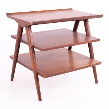 Restored Merton Gershun for American of Martinsville X Inlay Mid Century Side End Table - mcm by ModernHill