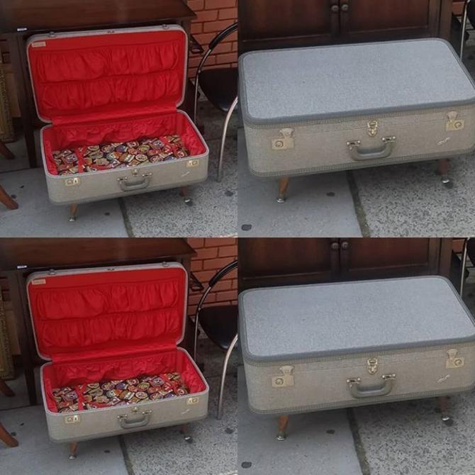 """Travel Joy"" Surprise Luggage Cocktail Table,"