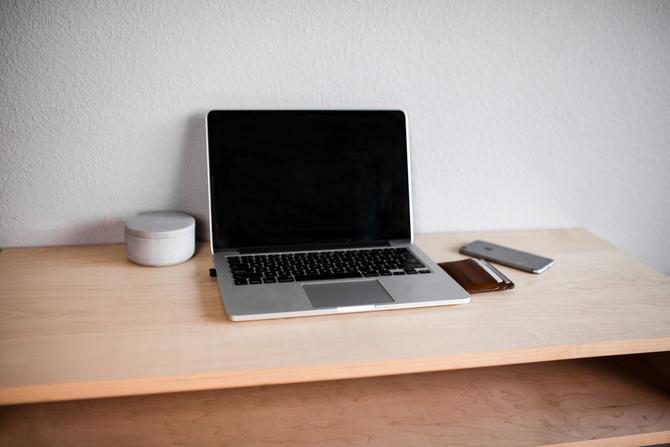 Defiant Floating Maple Desk by WalnutAndOak