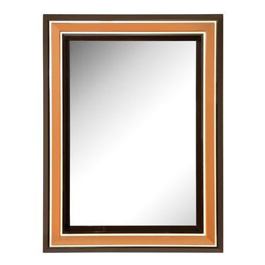 Chic Les Prismatiques  Mirror with Frame in Molded Lucite 1970s (Signed)