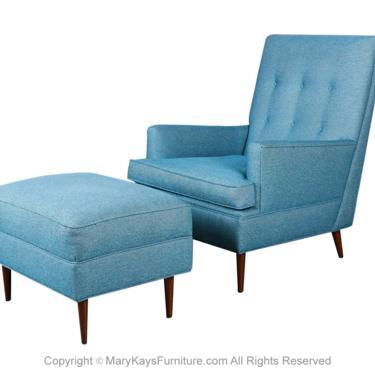 Milo Baughman Mid Century Lounge Chair Ottoman by Marykaysfurniture