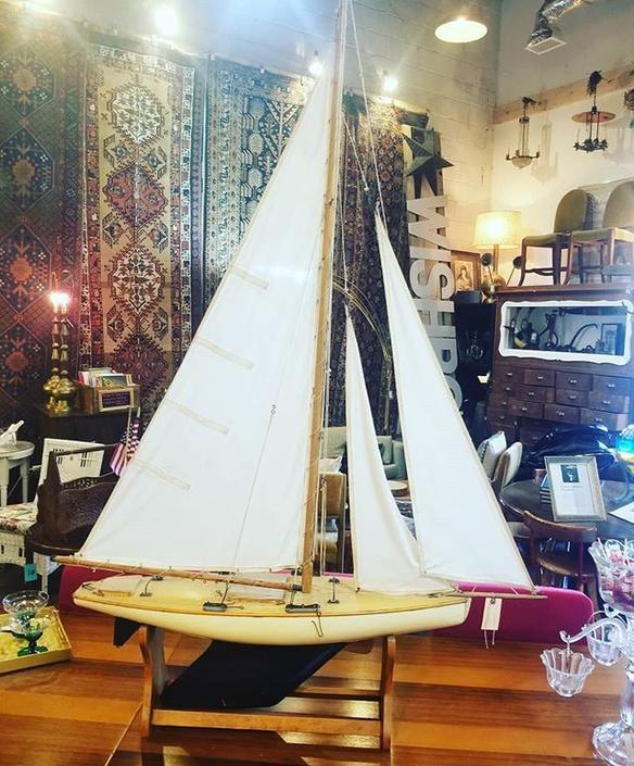 Antique Sail Boat Model. $650