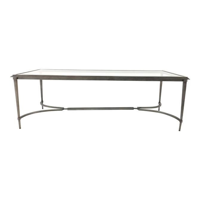 Organic Modern Sherrill Co. Metal and Glass Cocktail Table