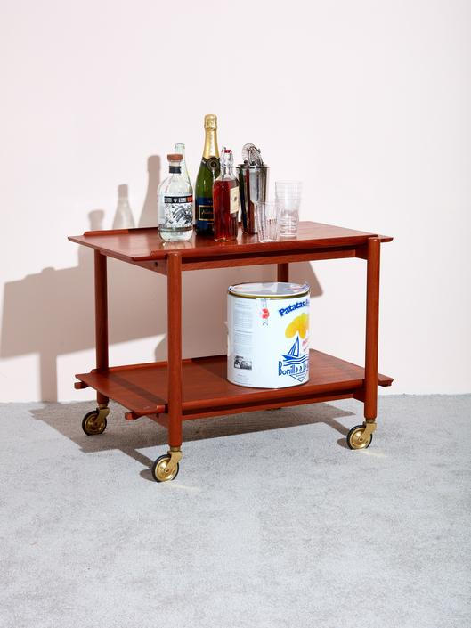 Danish Teak Serving Cart