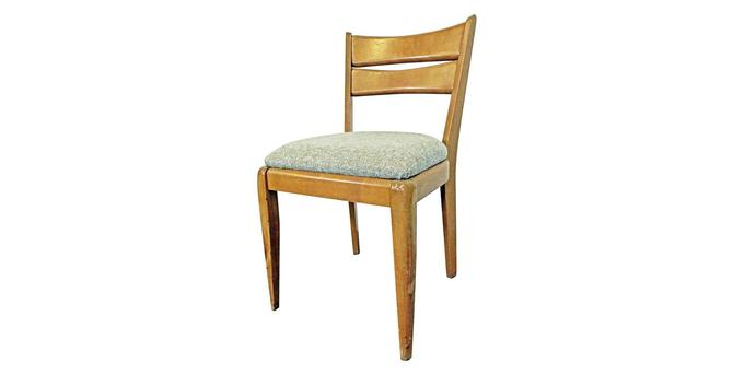 Mid-Century Modern Heywood Wakefield Cat's Eye Champagne Side/Dining Chair 151 by AnnexMarketplace
