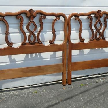 French Carved Pair Twin Size of Headboards 1942