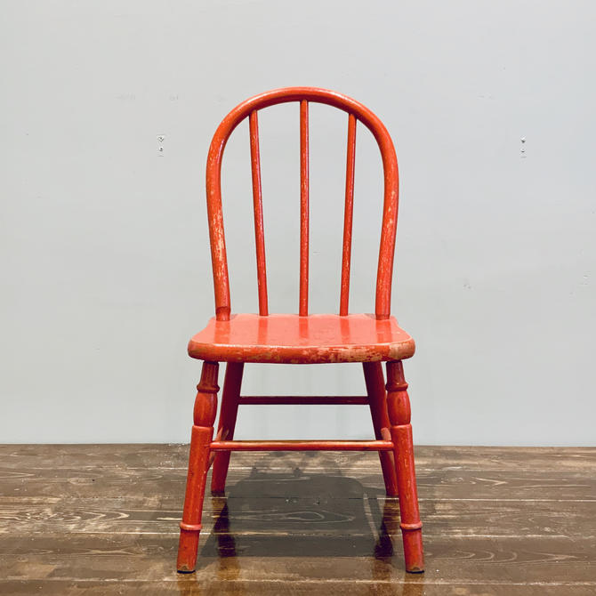 Red Kids Chair | Red Toddler Chair | Small Chair Photo Prop | Time Out Chair | Farmhouse Chair | Wood Chair | Painted Chair by PiccadillyPrairie