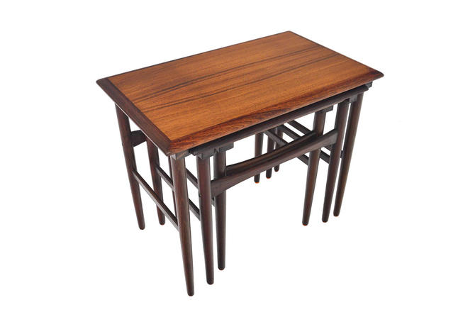 Set of Danish Modern Mid Century Rosewood Nesting Tables by MidCenturyMobler