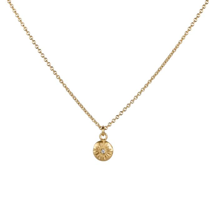 Small Lucia Vermeil Diamond Necklace