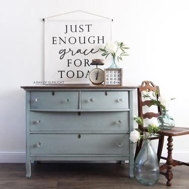 Light Blue Painted Dresser - Refinished Dresser - Farmhouse Decor - TV Stand - Entryway Table - Painted Furniture - Changing Table - Buffet by ARayofSunlight