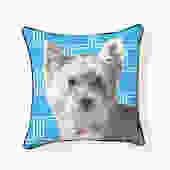 Pooch Décor: White Westie Pillow