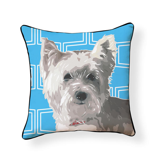 Pooch Décor: White Westie Pillow