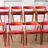 Kai Kristiansen Teak Chairs with Harry Ostergaard Teak Dining Table
