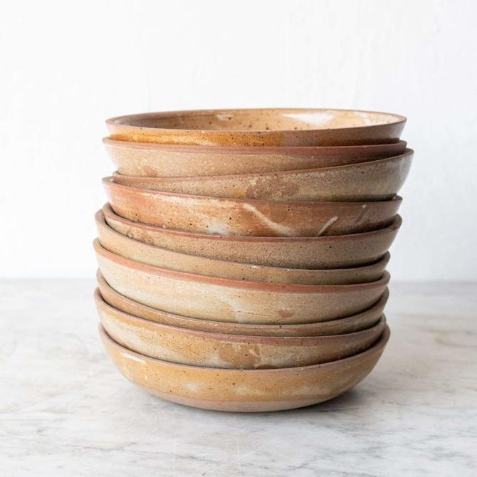 Vintage Stoneware Shallow Bowl