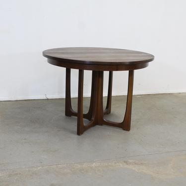 Mid Century Modern Round Walnut Brasilia Dining Table w Sculpted Base by AnnexMarketplace
