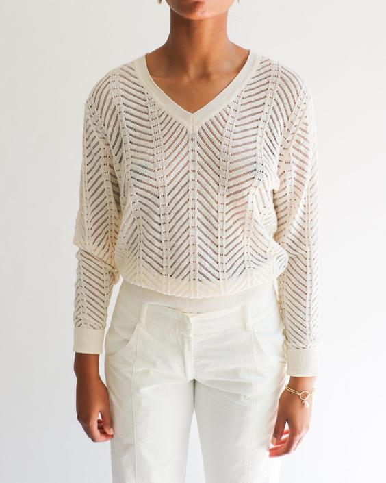 Isabel Marant Chevron Knit Sweater, Size 40