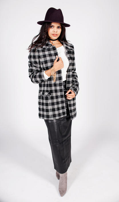 Vintage Wool & Silk Blend Plaid Coat by UnfadedEra