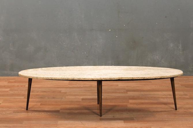 Travertine Surfboard Coffee Table