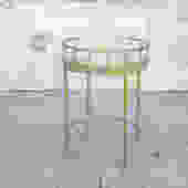 Small Glass & Gold Side Table
