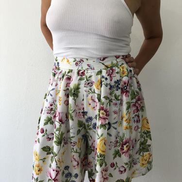 Vintage Esprit Sport Floral Summer High Waist Short Pants by VintageRosemond