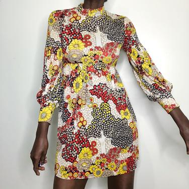 Vintage 1960s Peck & Peck Flower Power Babydoll Dress
