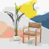 Vintage Blonde Chair