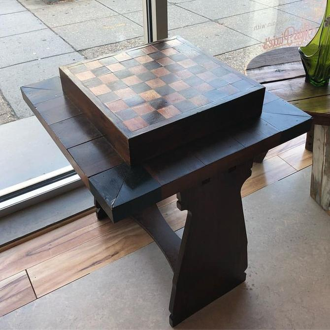 Handmade chess/ checkers table!