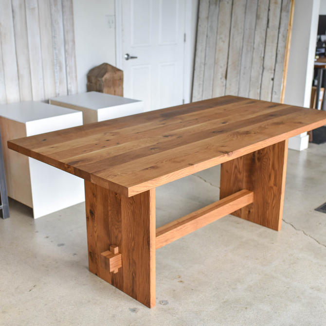 Modern Timber Frame Dining Table | Reclaimed Wood by wwmake