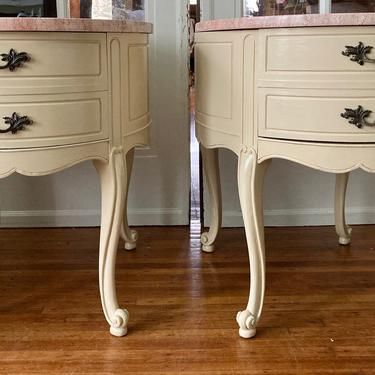 Marble Topped Side Tables SHIPPING NOT INCLUDED by RavenPearVintage