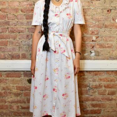 1940's Cotton Floral Dress