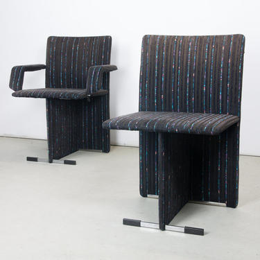 Pair of Upholstered Chairs by Giovanni Offredi for Saporiti
