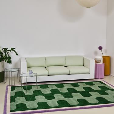 Furtunato - Verde Wool Rug