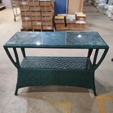 Green Wicker Sofa Table