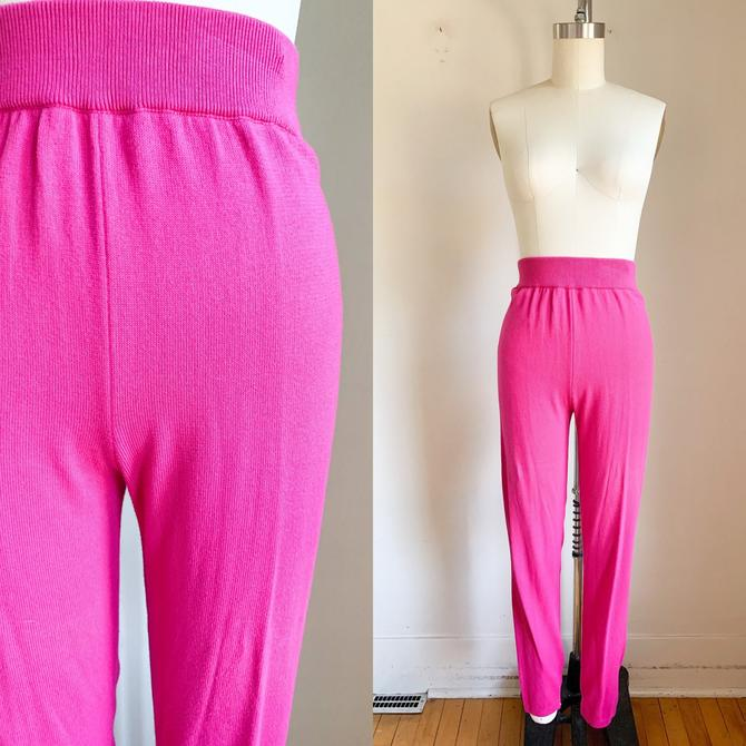 Vintage 1980s United Color of Benetton Hot Pink Cotton Pants / S by MsTips