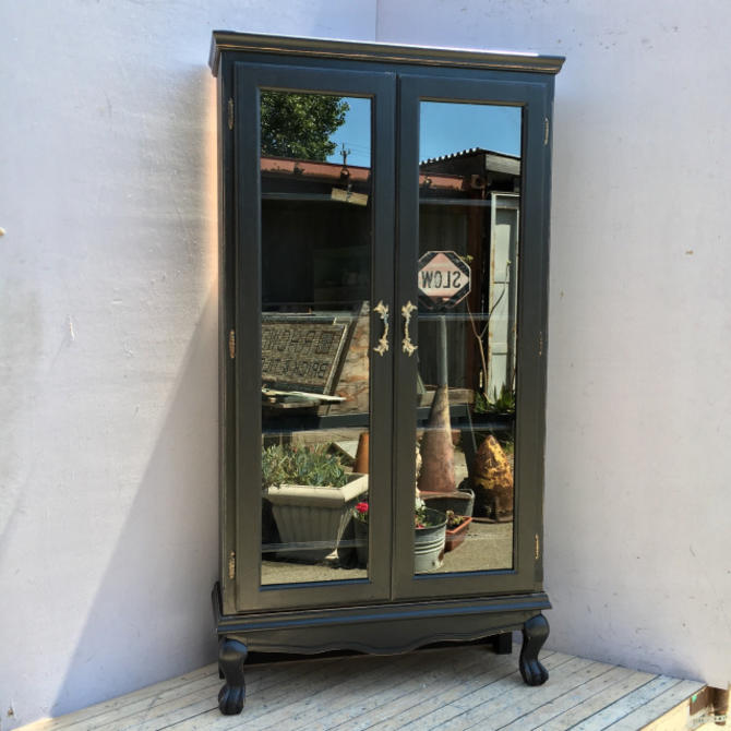 Painted Glass Bookcase