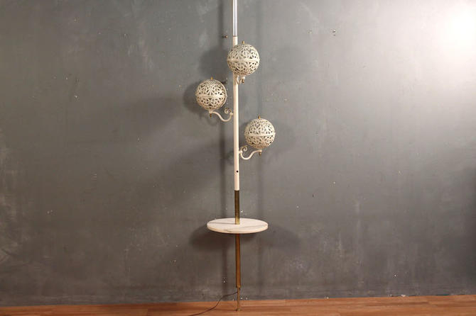 Metal Globes & Marble Tension Lamp – ONLINE ONLY