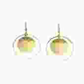 """Selah Vie Saturn Hoop 1"""" (hammered circle inside hoops)"""