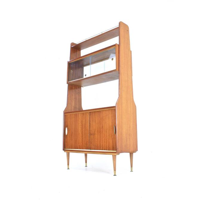 Mid Century Teak Wall Unit/Room Divider by SputnikFurnitureLLC