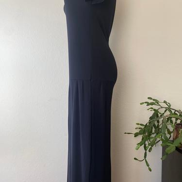 vintage black DKNY dropped waist maxi dress size medium by miragevintageseattle