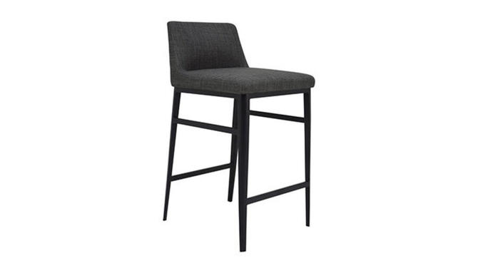 """""""Baron"""" Counter Stool in Charcoal"""