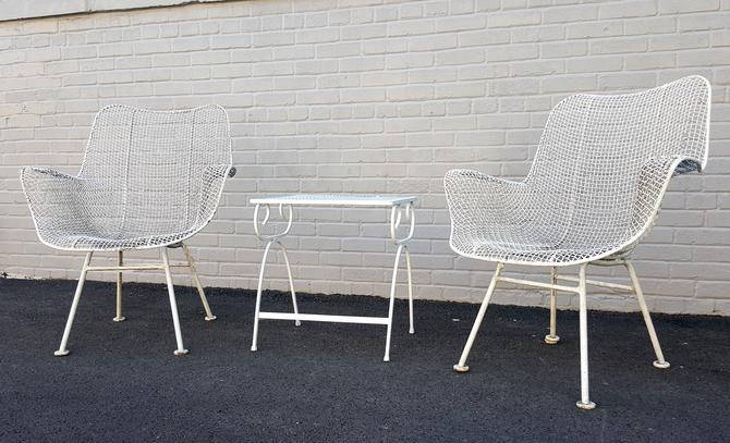 Iconic Woodard Sculptura Mcm Patio Chairs From Modern Finds Of Chicago Il Attic